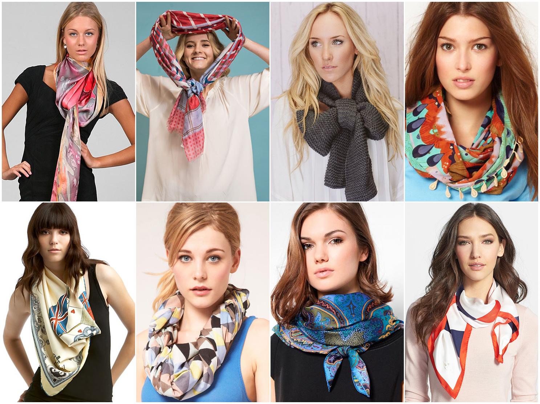 Как красиво завязать шарф палантин фото