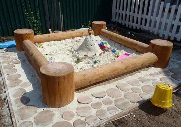 Песочница из березы своими руками