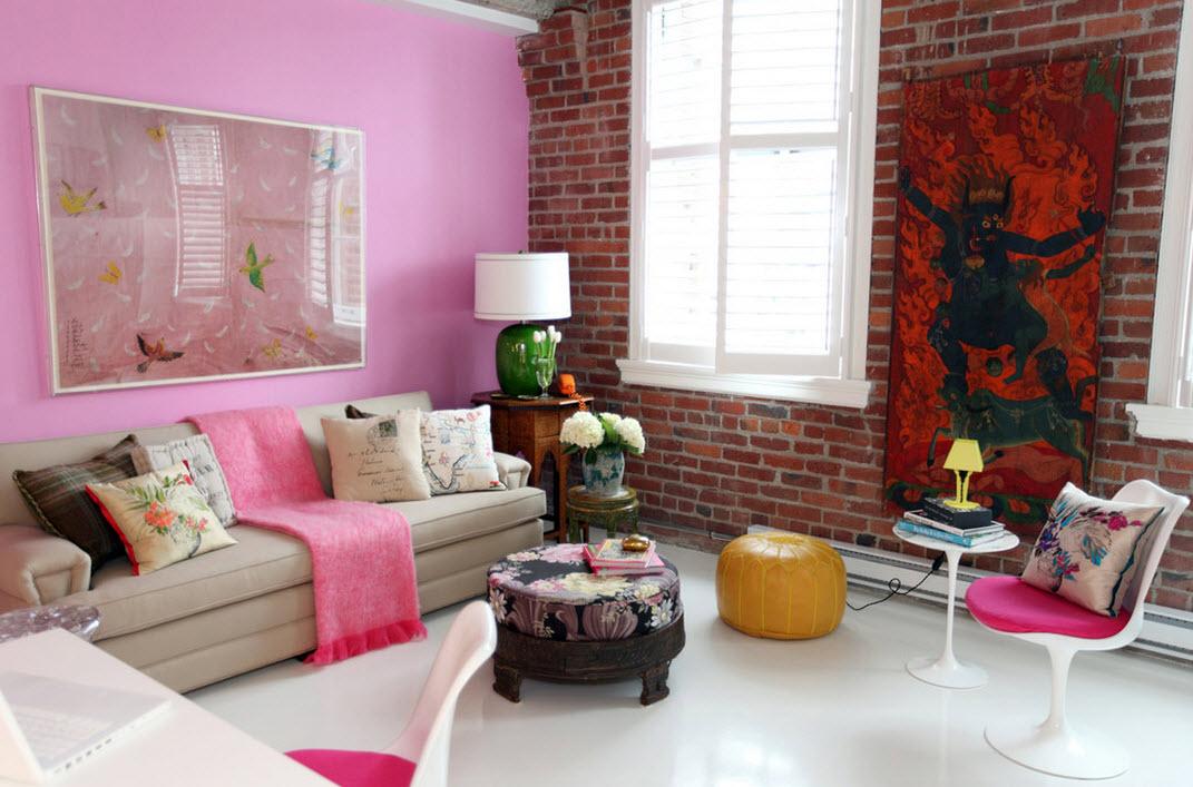 Розовые интерьеры фото 32