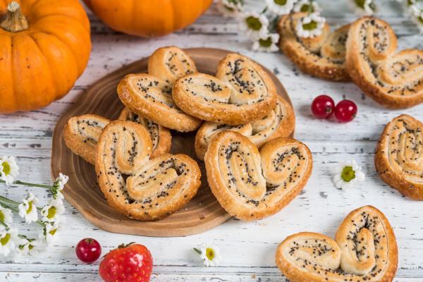 слоеное печенье с маком рецепт с фото