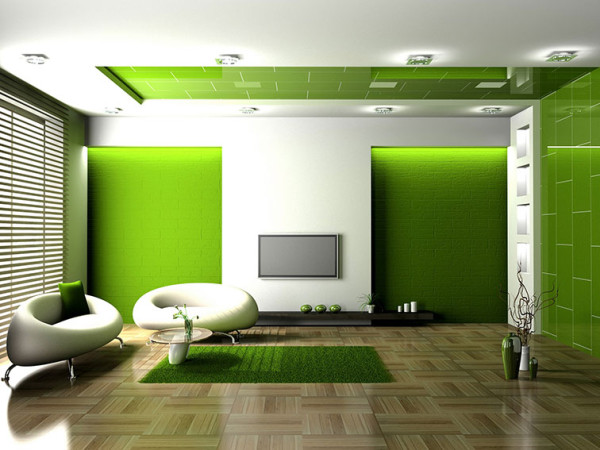DenizHome-Green-Living-Room-Interior-Design