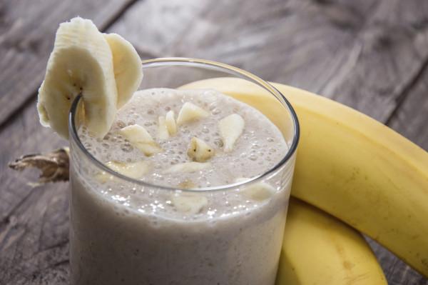 Fresh made Banana Milkshake