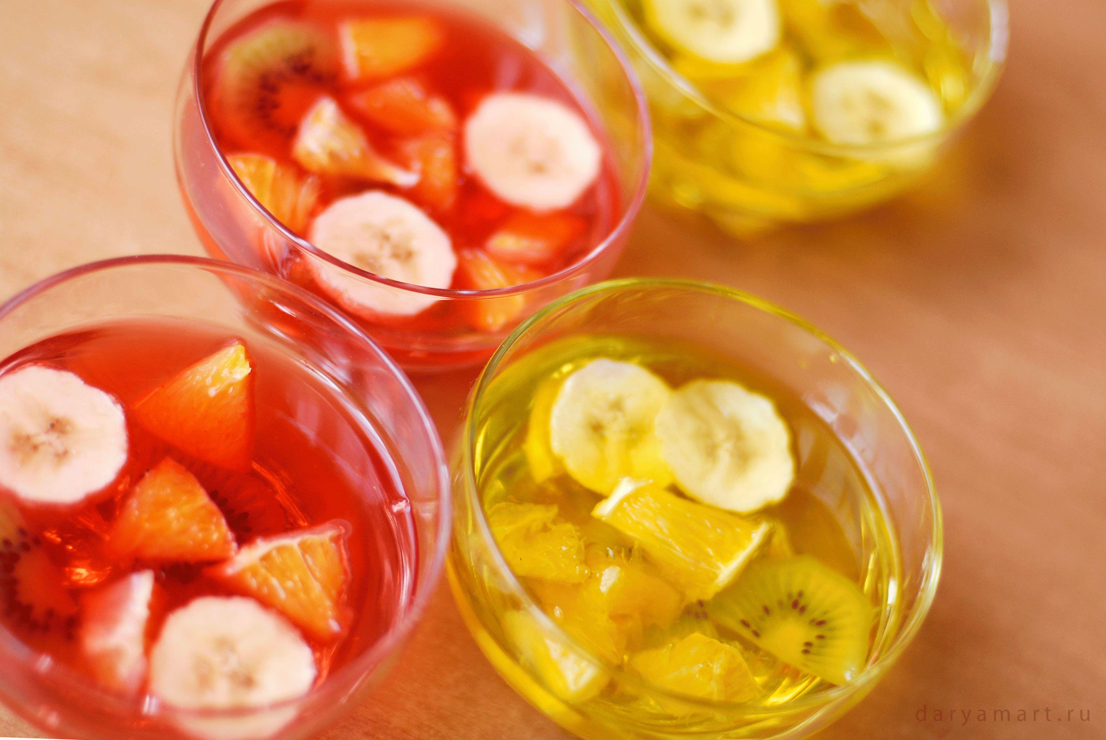 Как сделать фруктовое желе из желатина и сока