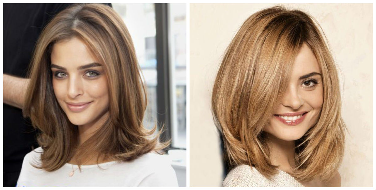 Стрижки на средние прямые волосы 2017 женские