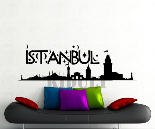 Creative-Home-Decorations-Wall-Stickers-Wall-Stickers-Istanbul-Turkish-City-Landscape-Character-Pattern-Vinyl-Wall-Stickers.jpg_640x640