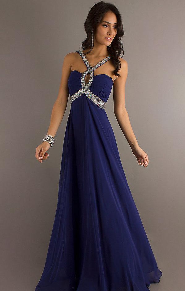 Синие платья на выпускной