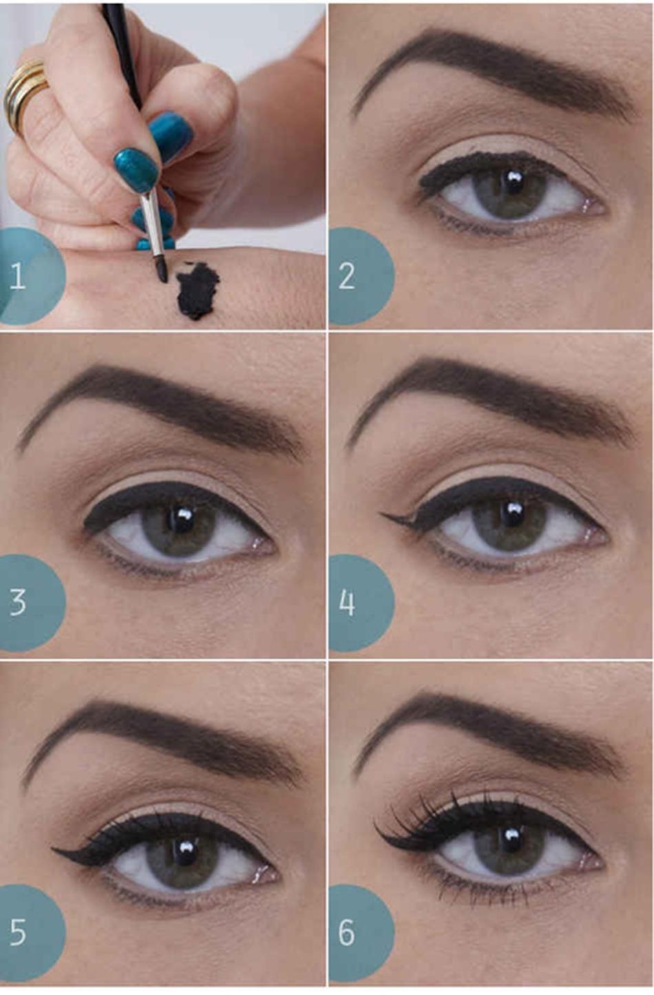 Как сделать глаза больше с помощью стрелок