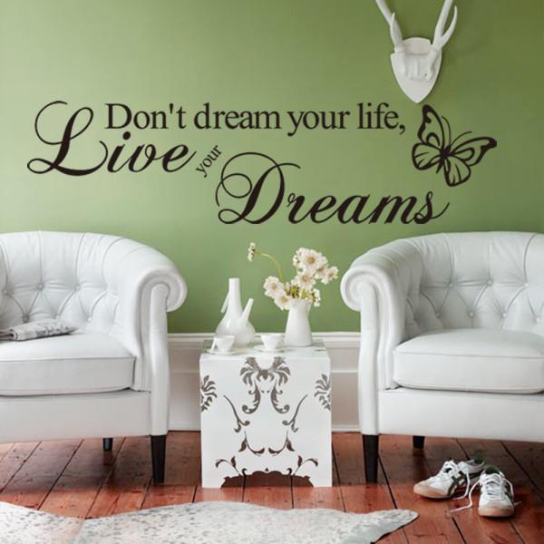 -Не-Мечта-Вашей-Жизни-реализовать-Свои-Мечты-Цитаты-и-Поговорки-Наклейки-На-Стены-Гостиная-Спальня