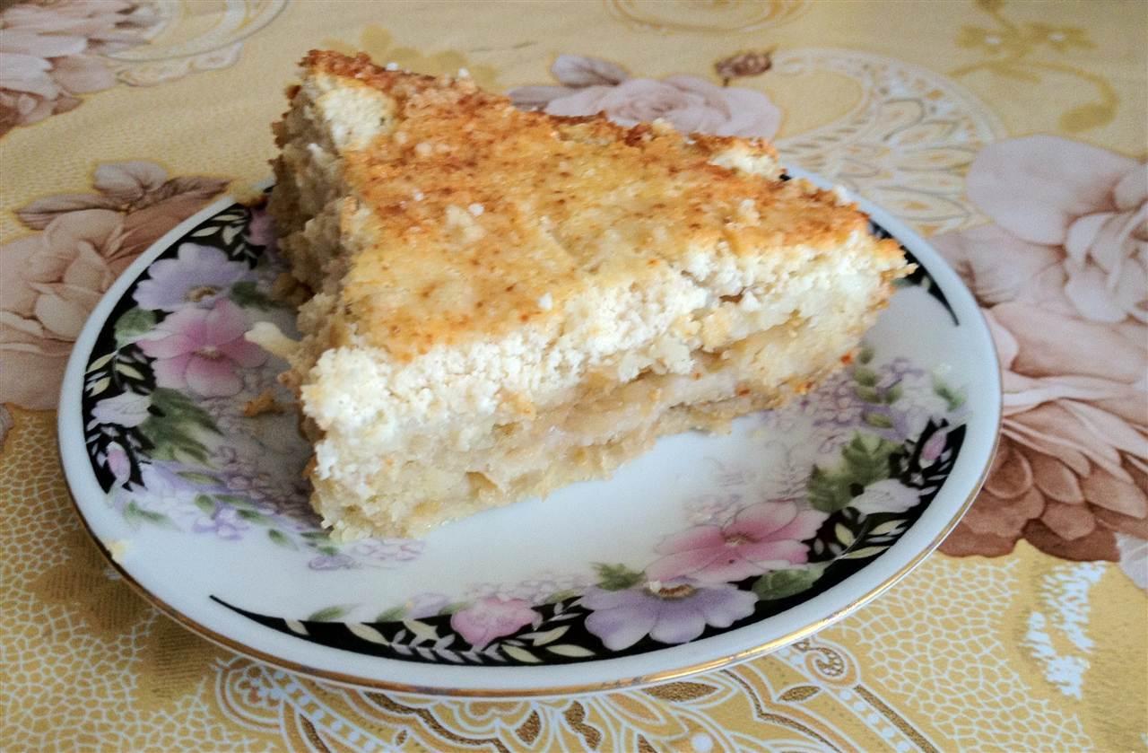 Рецепт пирога с творогом и яблоками фото пошагово