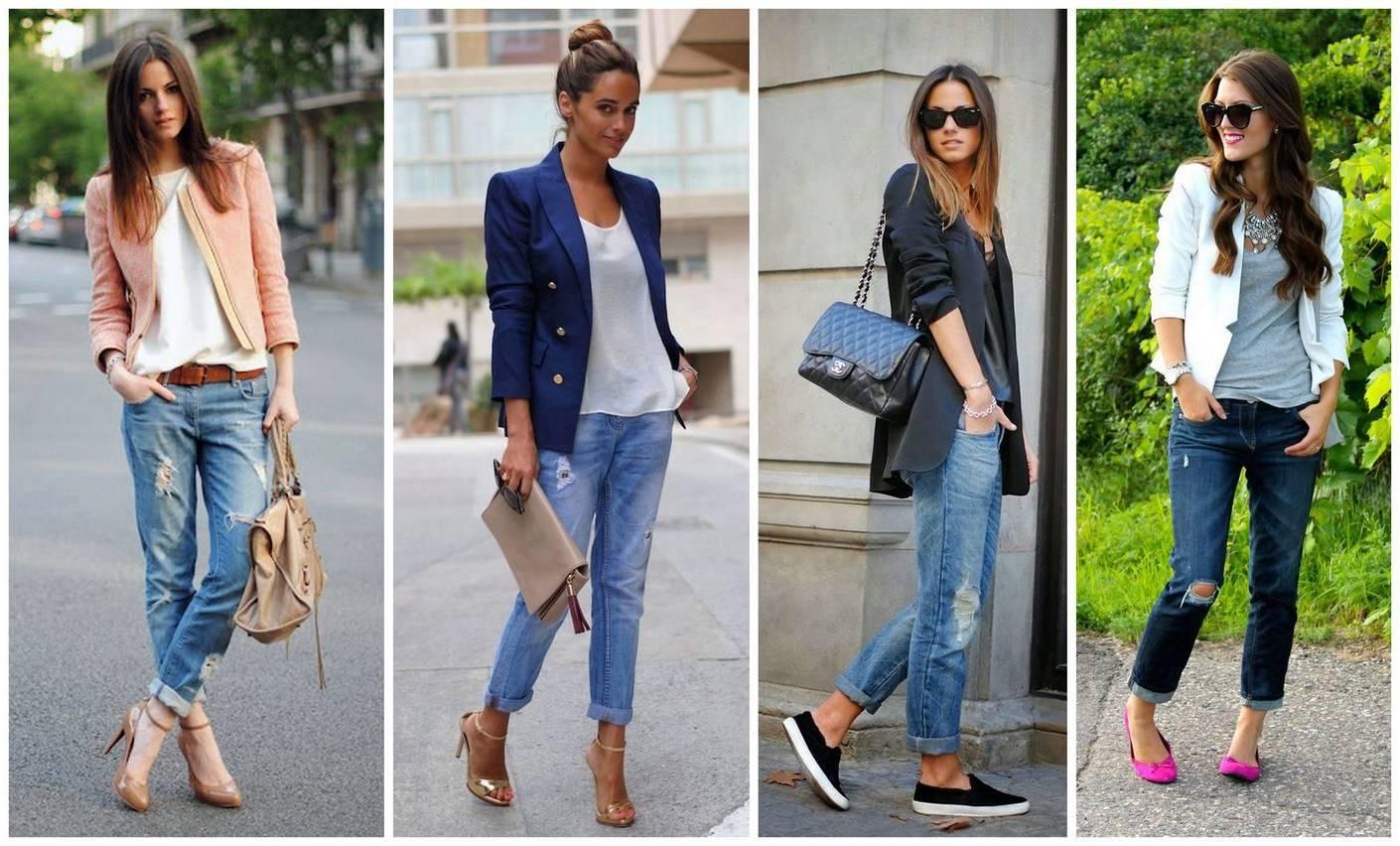 Фото как носить джинсы