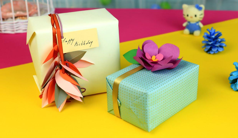 Как украсить подарок на день рождения своими руками 83
