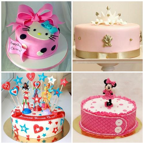 Тортики на день рождения для девочек своими руками 93