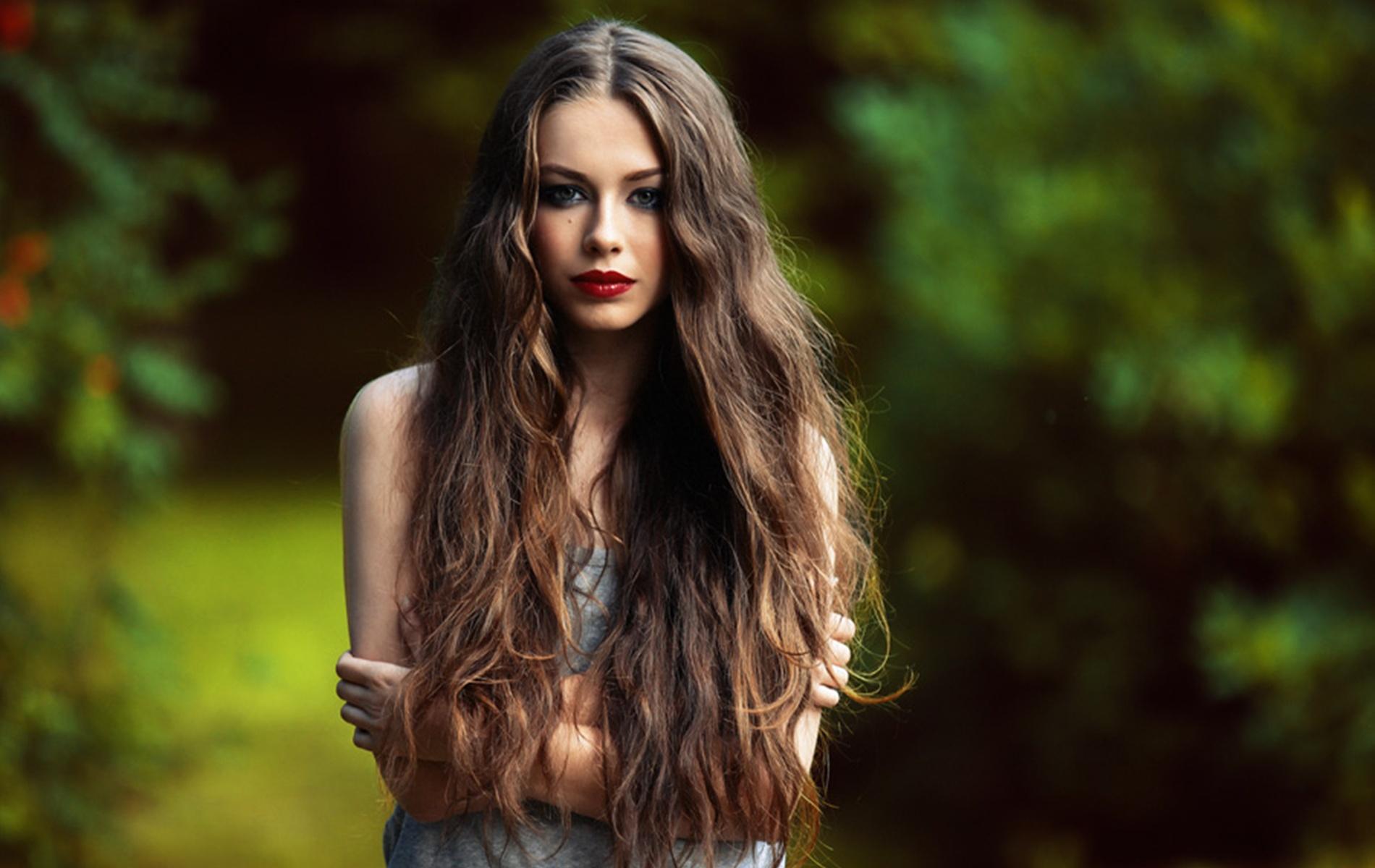Идеи фото с длинными волосами