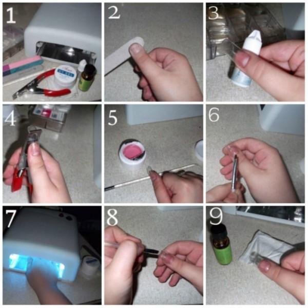 Как нарастить ногти в домашних условиях без гель лака