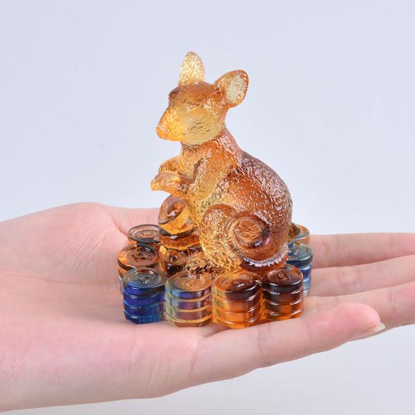Liuli-12-Китайского-животного-знаки-зодиака-Крыса-Фигурка-Пресс-Папье-Красивые-Коллекционирования-подарки