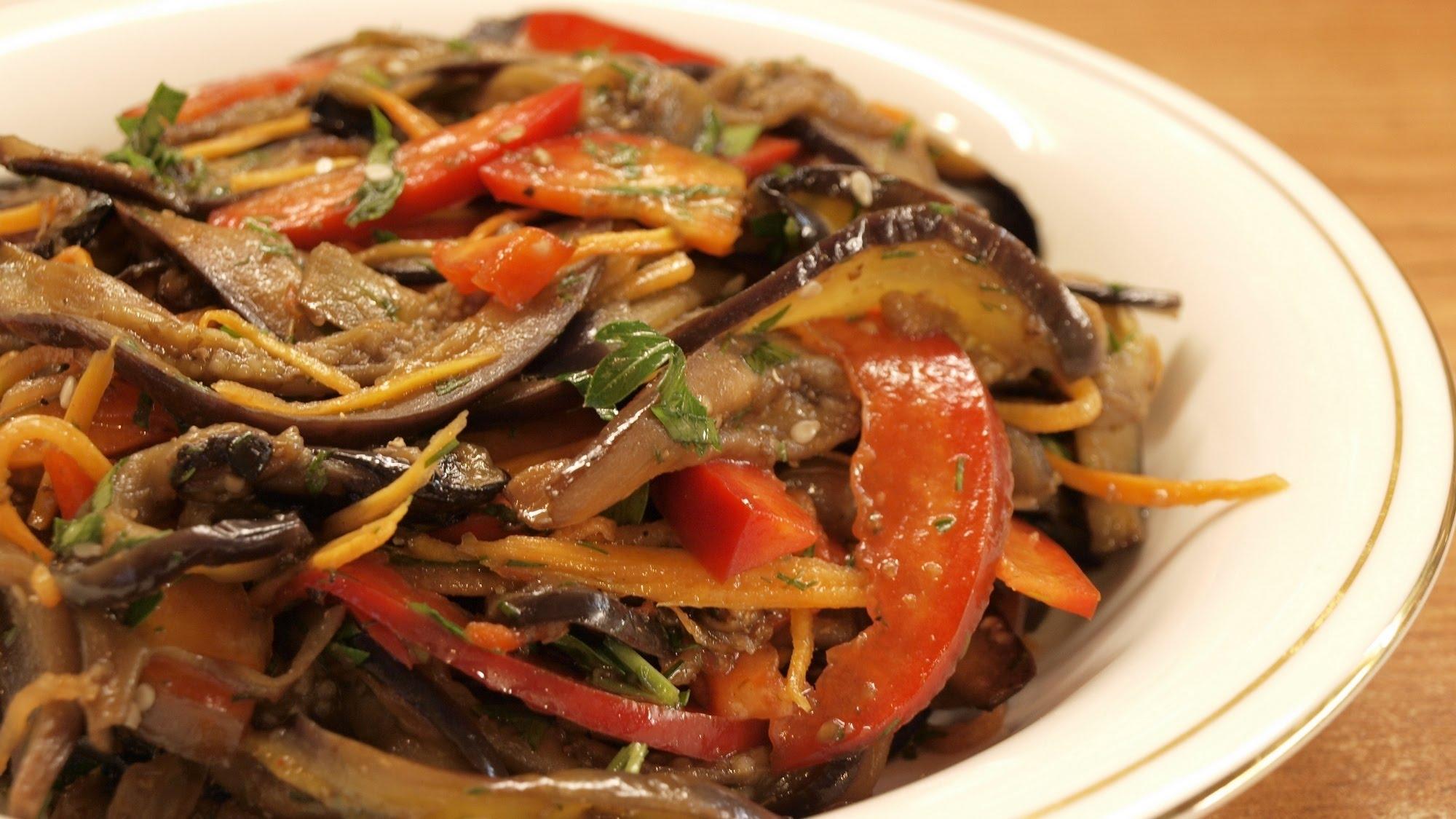 Баклажаны с морковью по-корейски рецепт простой