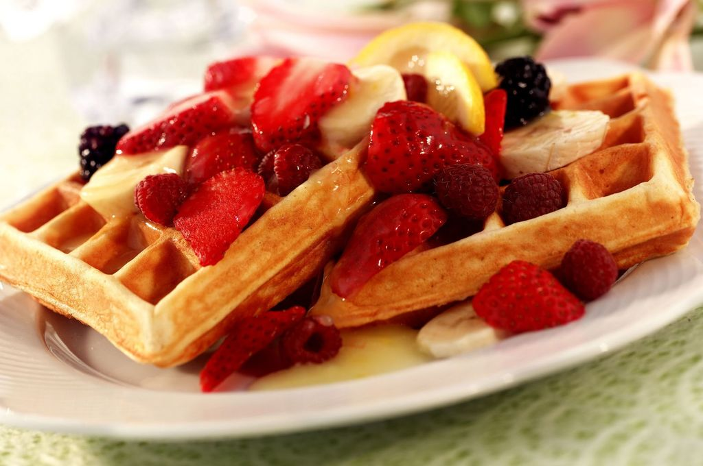 венские вафли с фруктами рецепт