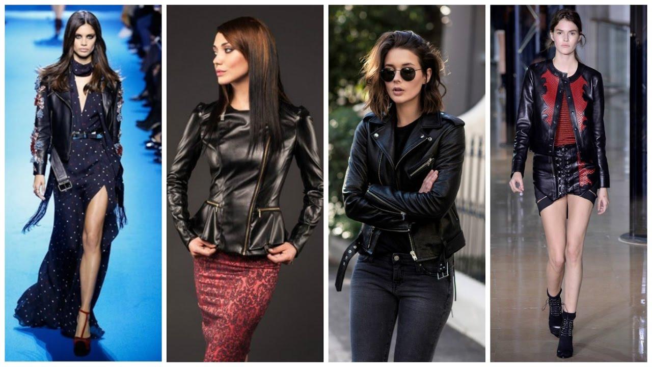 2fce6adec76 Модные Кожаные Куртки 2017 Женские Фото